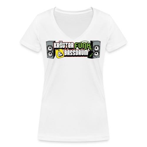KF B Logo 2 - Frauen Bio-T-Shirt mit V-Ausschnitt von Stanley & Stella
