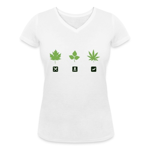 weed png - Frauen Bio-T-Shirt mit V-Ausschnitt von Stanley & Stella