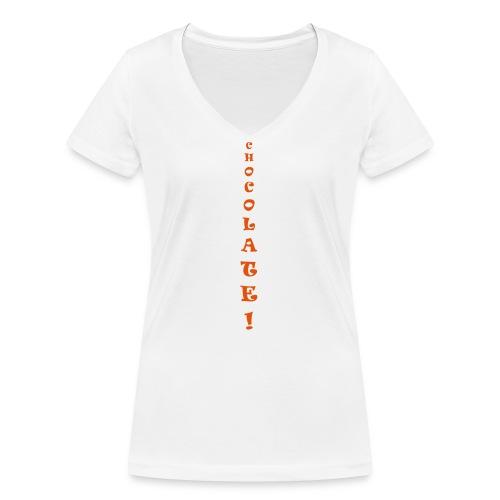 Chocolate - T-shirt ecologica da donna con scollo a V di Stanley & Stella