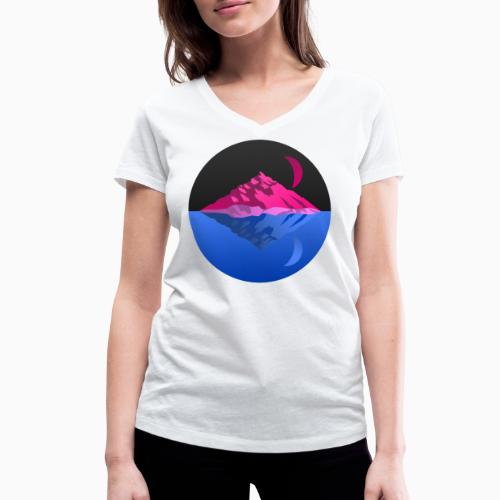 Bisex mountains - Women's Organic V-Neck T-Shirt by Stanley & Stella