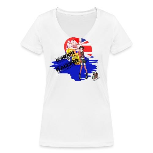 LONDON CALLING - Frauen Bio-T-Shirt mit V-Ausschnitt von Stanley & Stella