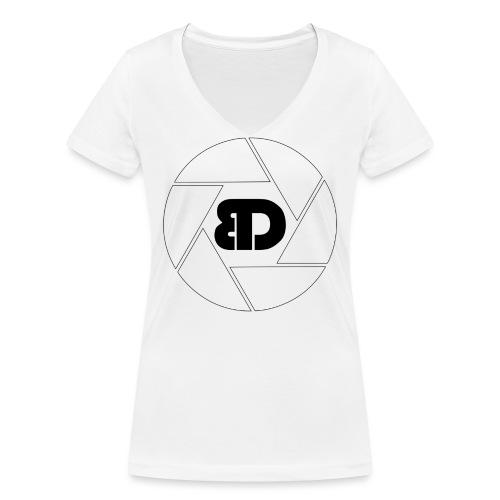 BD Logo schwarz - Frauen Bio-T-Shirt mit V-Ausschnitt von Stanley & Stella