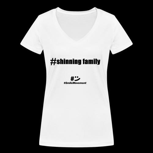 shinning family - T-shirt bio col V Stanley & Stella Femme