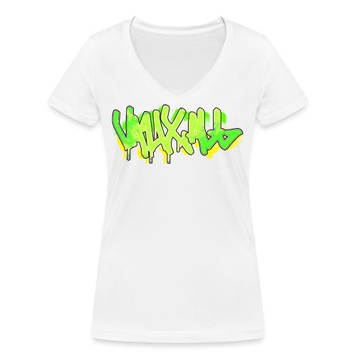 Graffiti | GREEN - Women's Organic V-Neck T-Shirt by Stanley & Stella