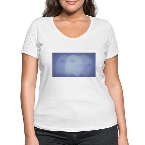 Maschera celeste - T-shirt ecologica da donna con scollo a V di Stanley & Stella