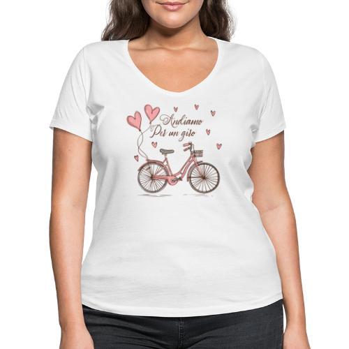 Andiamo per un giro - Women's Organic V-Neck T-Shirt by Stanley & Stella