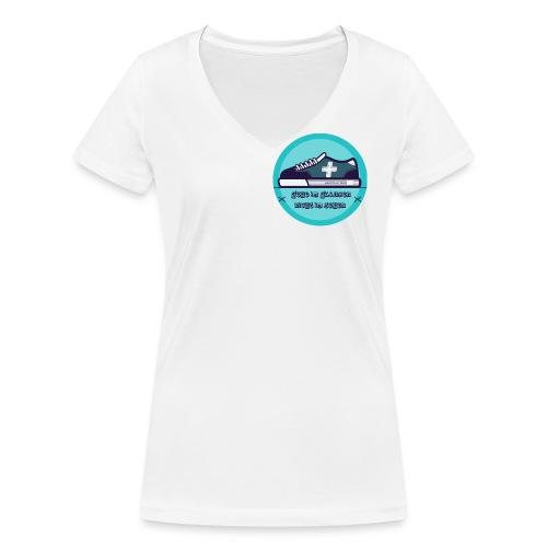 Gehe im Glauben nicht im Sehen - Frauen Bio-T-Shirt mit V-Ausschnitt von Stanley & Stella