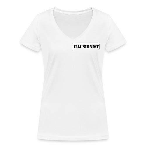 Illusionist - Women's Organic V-Neck T-Shirt by Stanley & Stella