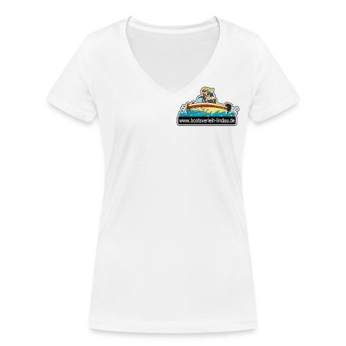 bootsverleih lindau - Frauen Bio-T-Shirt mit V-Ausschnitt von Stanley & Stella