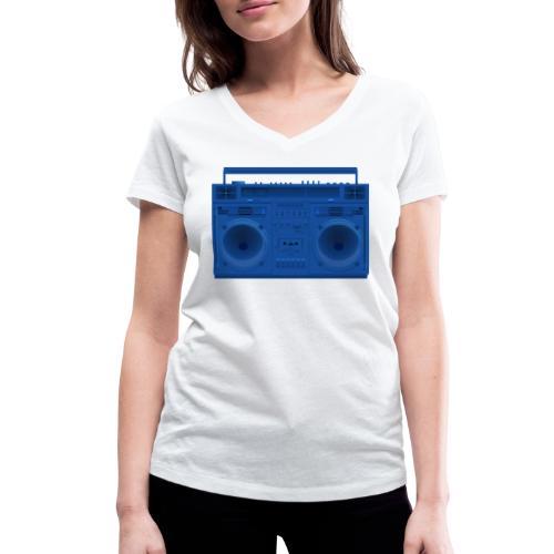 Bestes Stereo blau Design online - Frauen Bio-T-Shirt mit V-Ausschnitt von Stanley & Stella