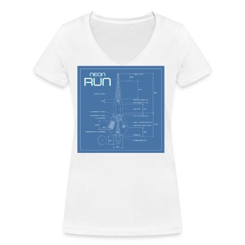 NeonRun blueprint - Vrouwen bio T-shirt met V-hals van Stanley & Stella