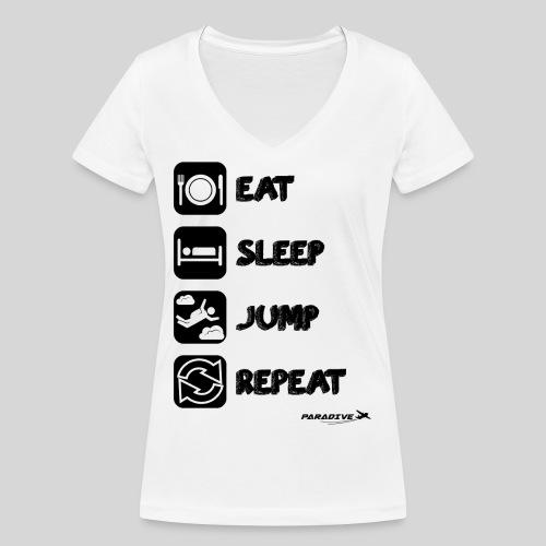EatSleepJumpRepeat - T-shirt bio col V Stanley & Stella Femme