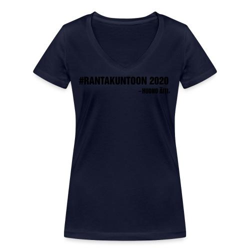 Rantakuntoon - Stanley & Stellan naisten v-aukkoinen luomu-T-paita