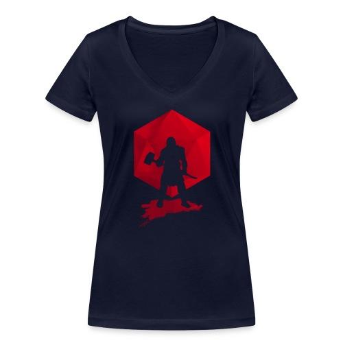 Brutal Barbarian - Dungeons and Dragons dnd d20 - Stanley & Stellan naisten v-aukkoinen luomu-T-paita