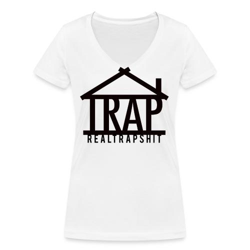realtrapshit traphouse png - Women's Organic V-Neck T-Shirt by Stanley & Stella