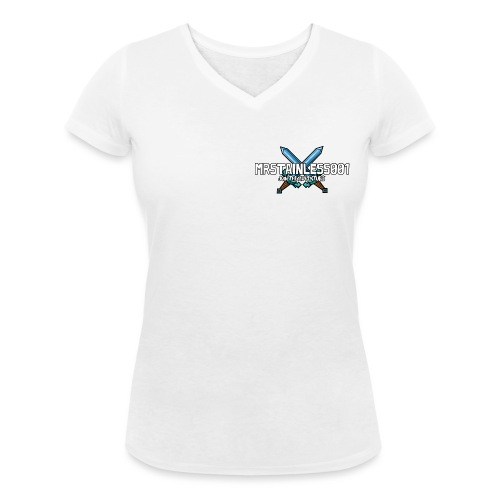 Stainless001 Logo - Women's Organic V-Neck T-Shirt by Stanley & Stella