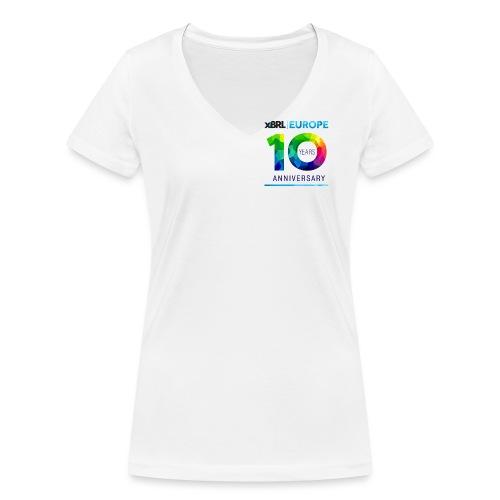 10th anniversary of XBRL Europe - Women's Organic V-Neck T-Shirt by Stanley & Stella