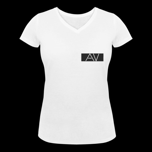 AV White - Women's Organic V-Neck T-Shirt by Stanley & Stella