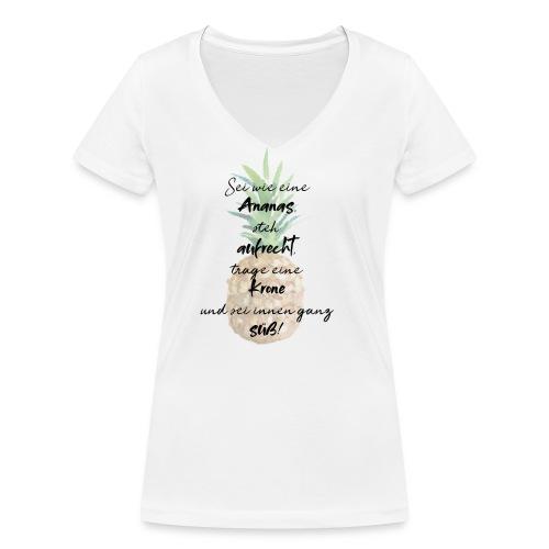 Ananas ist süß! - Frauen Bio-T-Shirt mit V-Ausschnitt von Stanley & Stella
