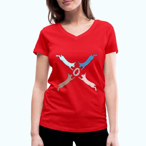 Easter - Women's Organic V-Neck T-Shirt by Stanley & Stella