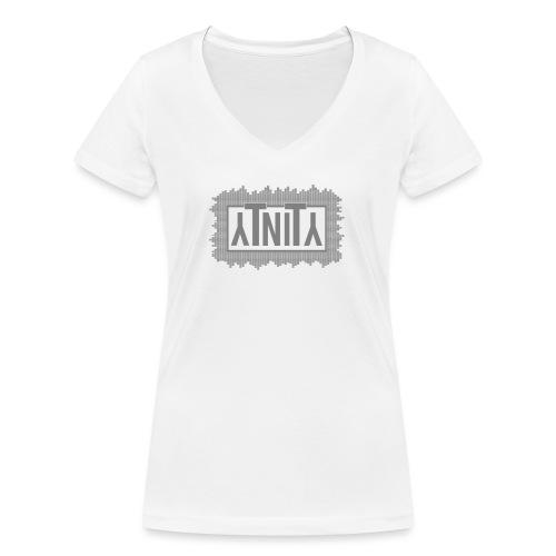 YT Logo higher grey png - Frauen Bio-T-Shirt mit V-Ausschnitt von Stanley & Stella
