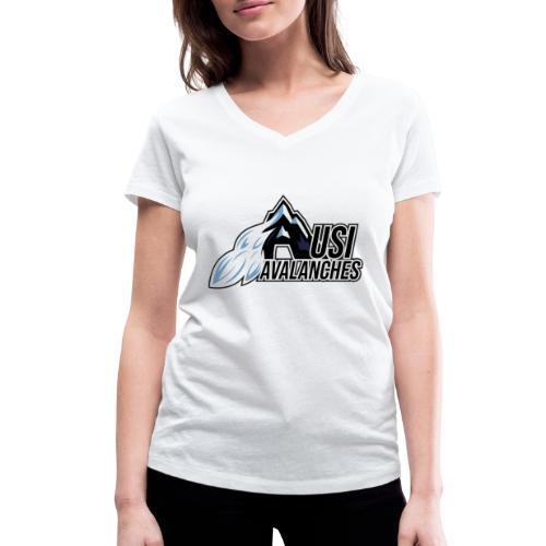 USI Avalanches white - Frauen Bio-T-Shirt mit V-Ausschnitt von Stanley & Stella