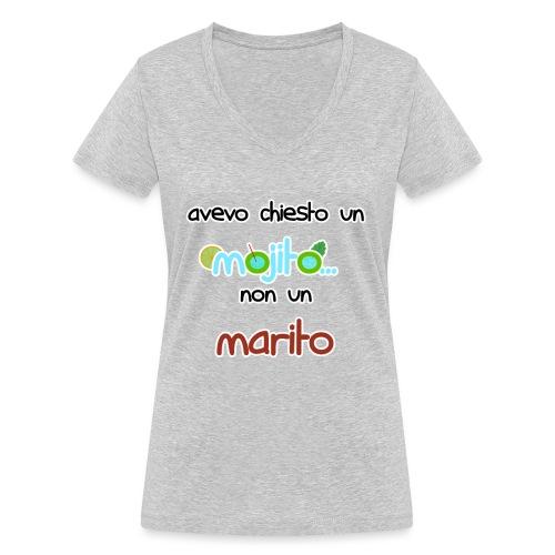Addio al nubilato - Avevo chiesto un mojito! - T-shirt ecologica da donna con scollo a V di Stanley & Stella