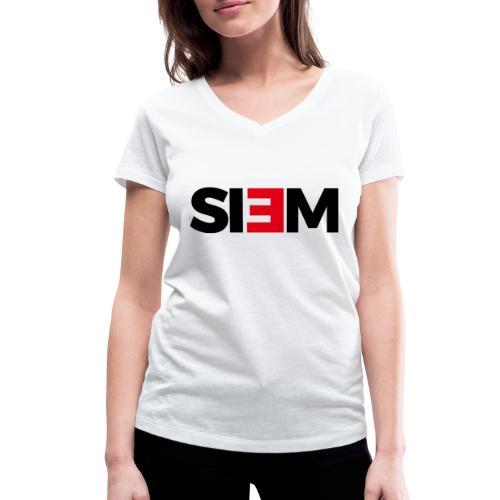 siem_zwart - Vrouwen bio T-shirt met V-hals van Stanley & Stella
