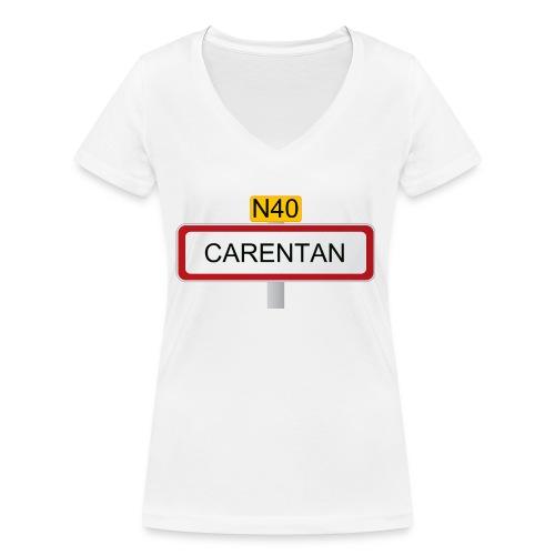 40anscarentan copie - T-shirt bio col V Stanley & Stella Femme