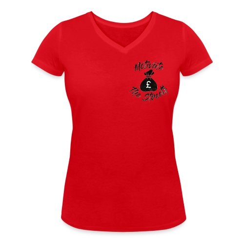 Motivate The Streets - Women's Organic V-Neck T-Shirt by Stanley & Stella