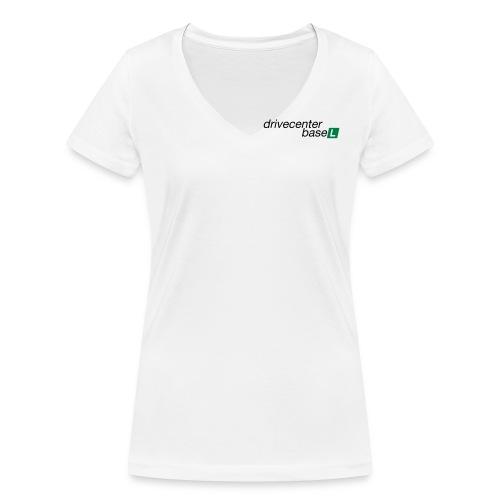 drive center logo black - Frauen Bio-T-Shirt mit V-Ausschnitt von Stanley & Stella
