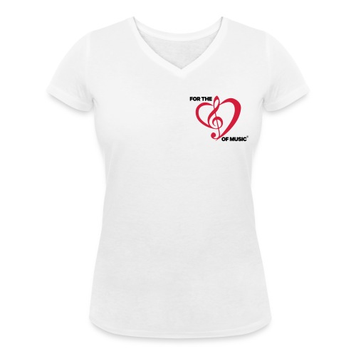 FTLOM original emblem (downsized) - Women's Organic V-Neck T-Shirt by Stanley & Stella