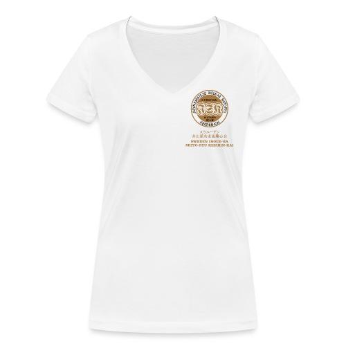 Sweden Inoue-ha Shito-ryu Keishin-kai - Ekologisk T-shirt med V-ringning dam från Stanley & Stella