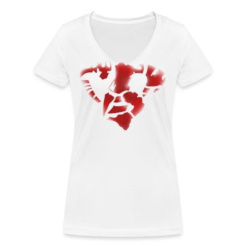 Demon - Camiseta ecológica mujer con cuello de pico de Stanley & Stella
