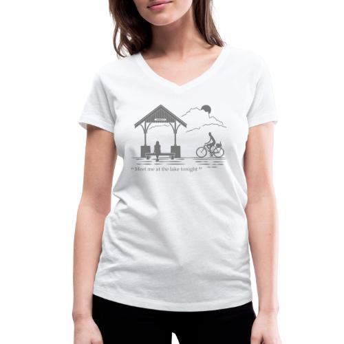 Meet me at annecy lake - T-shirt bio col V Stanley & Stella Femme