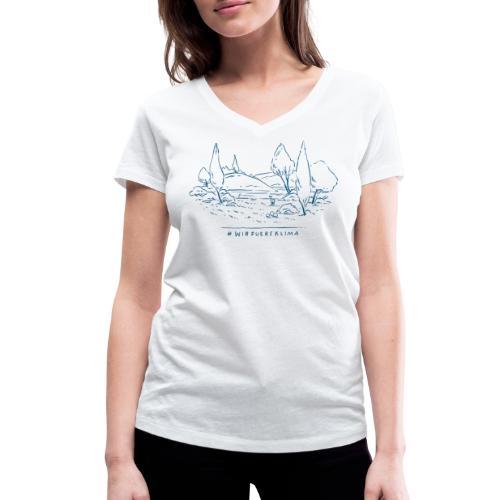 #wirfuersklima Landschaft - Frauen Bio-T-Shirt mit V-Ausschnitt von Stanley & Stella