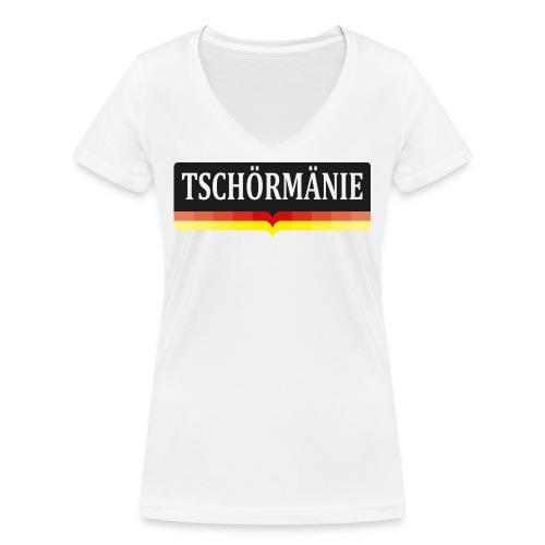 TSCHÖRMÄNIE - Frauen Bio-T-Shirt mit V-Ausschnitt von Stanley & Stella