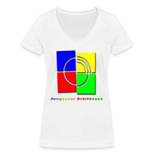 junschar logo bunt t - Frauen Bio-T-Shirt mit V-Ausschnitt von Stanley & Stella