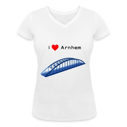 Arnhem, John Frostbrug - Vrouwen bio T-shirt met V-hals van Stanley & Stella