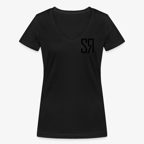 Black Badge (No Background) - Women's Organic V-Neck T-Shirt by Stanley & Stella