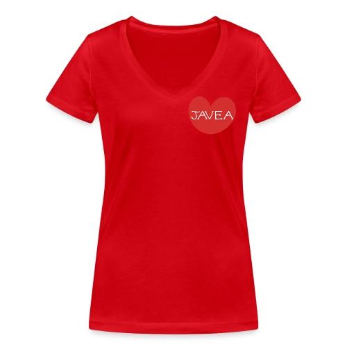 LOVE JAVEA - Camiseta ecológica mujer con cuello de pico de Stanley & Stella