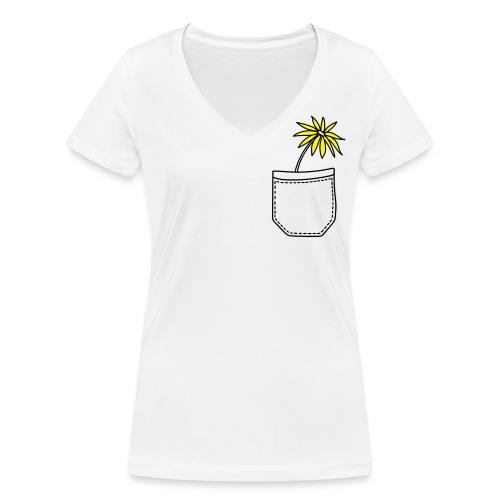 Yellow flower - Frauen Bio-T-Shirt mit V-Ausschnitt von Stanley & Stella