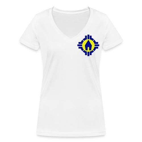 Schoenstatt Logo - Frauen Bio-T-Shirt mit V-Ausschnitt von Stanley & Stella