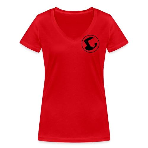 GLASS HAT - Camiseta ecológica mujer con cuello de pico de Stanley & Stella