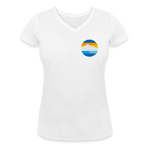 Initiative pour les glaciers - Frauen Bio-T-Shirt mit V-Ausschnitt von Stanley & Stella