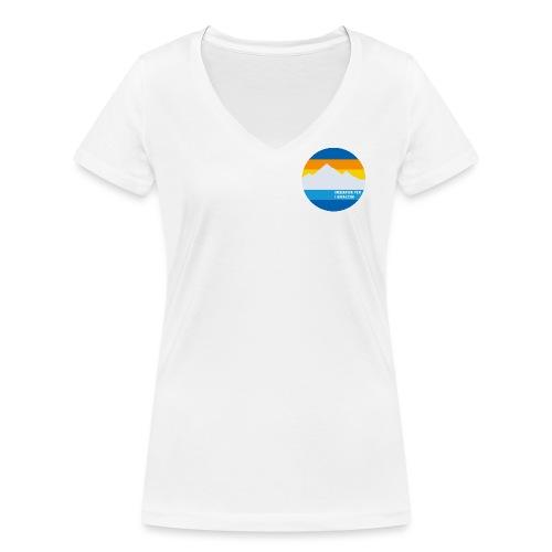 Iniziativa per i ghiacciai - Frauen Bio-T-Shirt mit V-Ausschnitt von Stanley & Stella