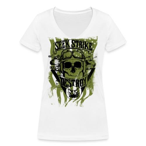 Tank destroyer mode le png - T-shirt bio col V Stanley & Stella Femme
