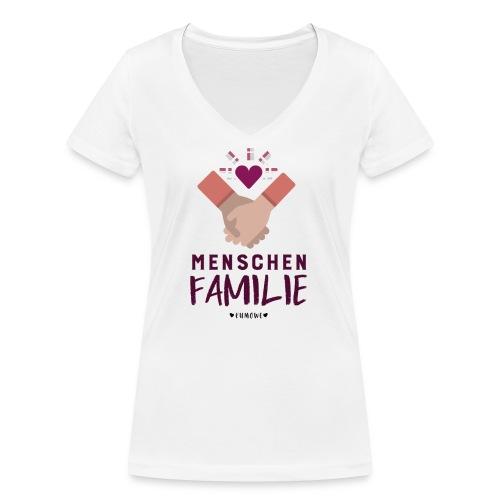 Menschenfamilie - Frauen Bio-T-Shirt mit V-Ausschnitt von Stanley & Stella