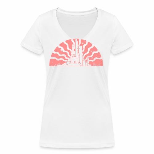 Fairytale Castle Sunrise - Frauen Bio-T-Shirt mit V-Ausschnitt von Stanley & Stella