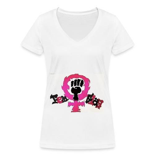 FemSlay Logo - Frauen Bio-T-Shirt mit V-Ausschnitt von Stanley & Stella
